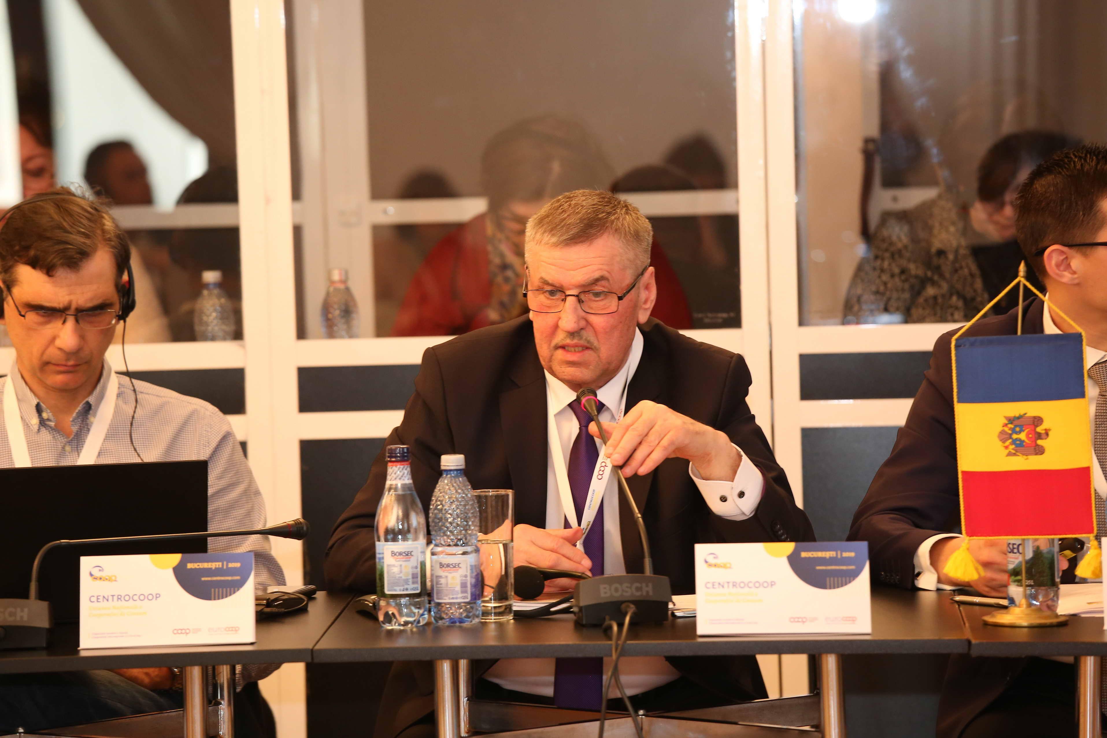 MOLDCOOP President Vasile Carauş addressing Euro Coop members